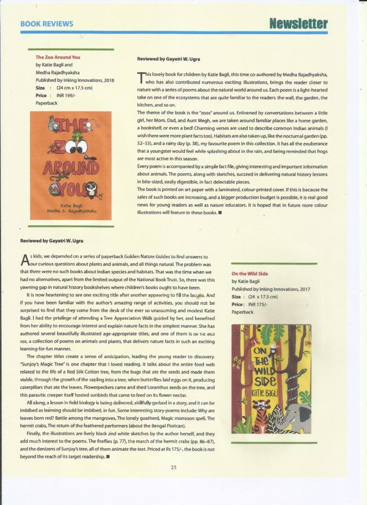 BNHS Newsletter April 2019 Poetry books